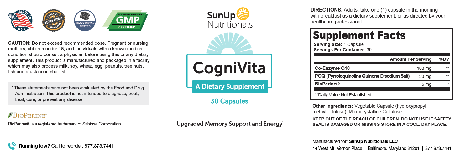 CogniVita Ingredients