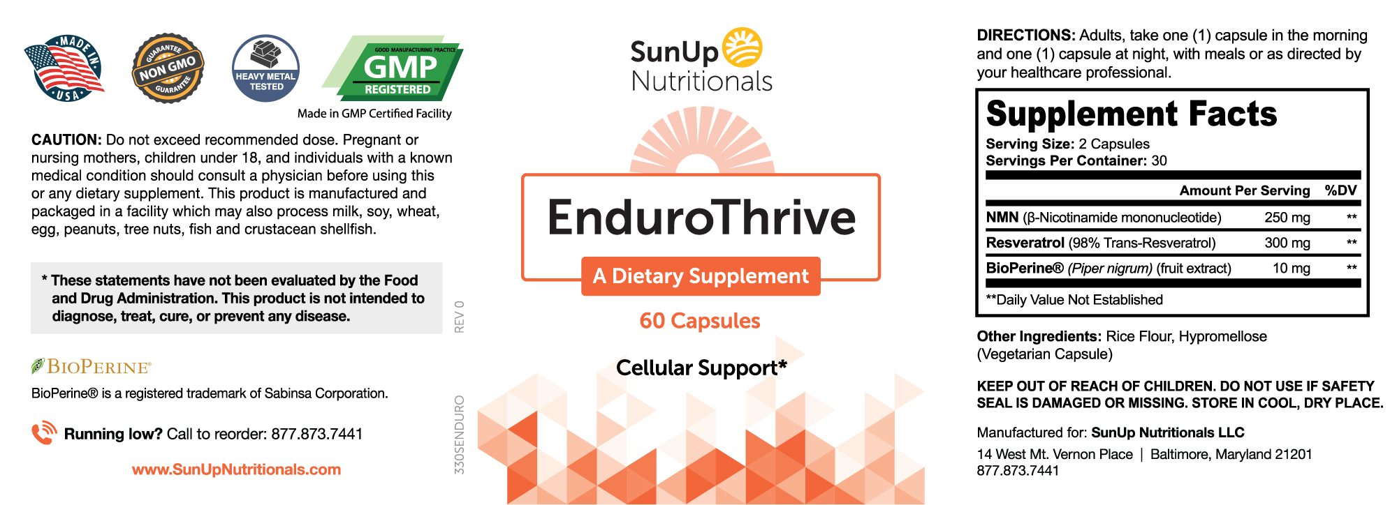 EnduroThrive Ingredients
